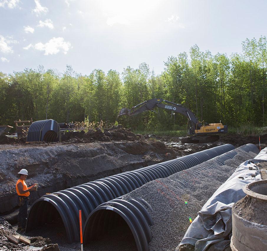 Bassin de r tention souterrain hydrostor stockage des eaux pluviales - Terrassement bassin de retention ...