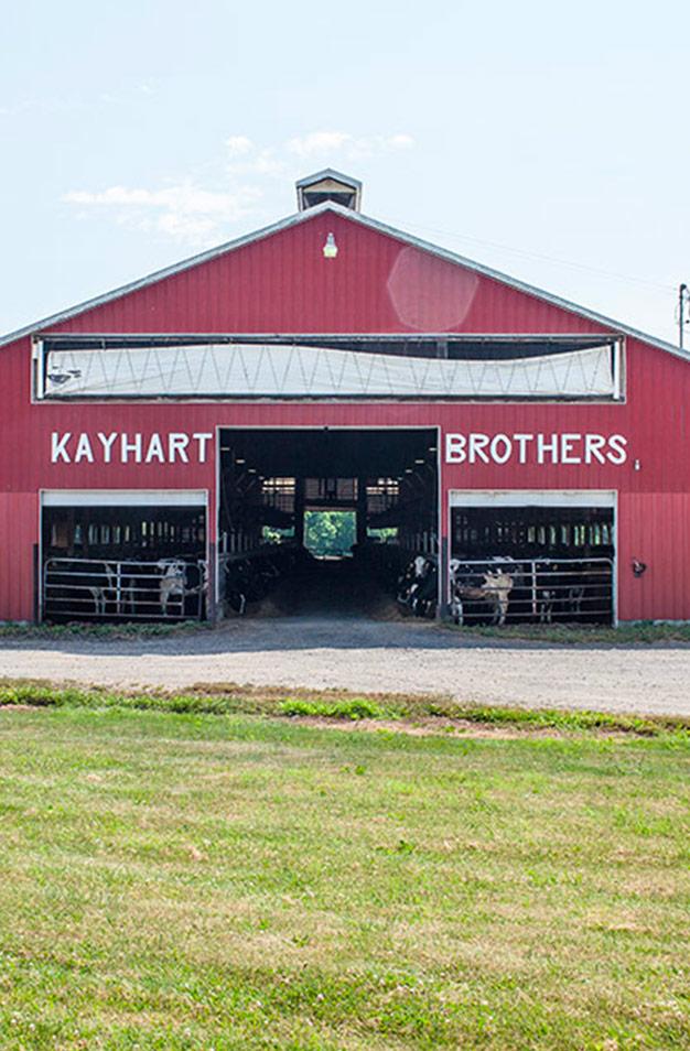Un premier système d'égout pluvial s'installe à la ferme laitière Kayhart Brothers